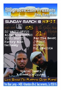 916groove.com Presents The Session(21+) Sunday March 18th 2012
